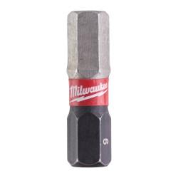 """BIT 1/4"""" UDAROWY SHOCKWAVE IMBUS 6x25mm (2 szt.), MILWAUKEE"""