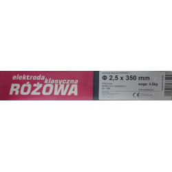 ELEKTRODA SPAWALNICZA RUTWELD 10 2.5x350mm (ODPOWIEDNIK KLASYCZNEJ RÓŻOWEJ ER146) 4.5kg, METALWELD